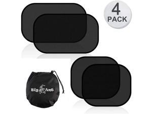 Big Ant Car Sun Shade - 4 Pack Cling Car Window Shade for Baby, 80 GSM Car Sun Shades Blocks Over 99% of Harmful UV Rays to Protect Passengers from Heat and Keep Your Car Cool - Easy Installation