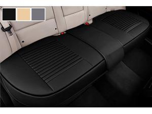 Big Ant Back Seat Covers, Separated Rear Seat Cover, Breathable PU Leather Back Car Seat Covers Universal Fit for Most Car, SUV, Vehicle Supplies (Black-Flexible for Different Seat Size)