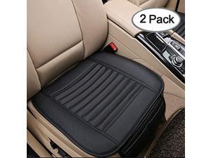 Big Ant 2 Pack Universal Car Front Seat Cover, Seat Cushion Pad Mat for Auto Supplies Office Chair with Breathable PU Leather (Black)