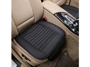 Big Ant 2 Pack Universal Car Front Seat Cover, Seat Cushion Pad Mat for Auto Supplies Office Chair with Breathable PU Leather Black