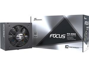 Seasonic FOCUS PX-850, 850W 80+ Platinum Full-Modular, Fan Control in Fanless, Silent, and Cooling Mode, 10 Year Warranty, Perfect Power Supply for Gaming and Various Application, SSR-850PX