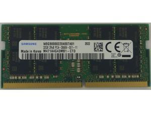 Samsung 32GB DDR4 2666MHz PC4-21300 1.2V 2Rx8 260-Pin SODIMM Laptop RAM Memory Module M471A4G43MB1-CTD