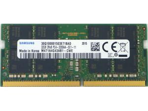 Samsung 32GB DDR4 3200MHz PC4-25600 1.2V 2Rx8 260-Pin SODIMM Laptop RAM Memory Module M471A4G43AB1-CWE