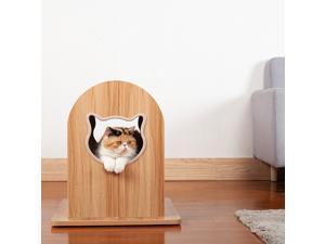 Solid wood cat climbing frame cat litter cat scratcher claw sharpener vertical wear-resistant sisal multifunctional cat jumping platform toy
