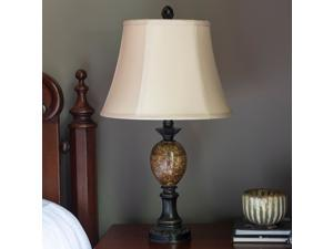 Huntington Bronze Table Lamp with Faux Marble Accent