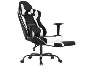 Gaming Chair Racing Style High-Back Office Chair Ergonomic Swivel Chair,White