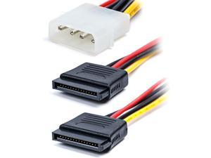 TxLove 4 Pack 6-Inch/15CM 4pin to 15pin SATA Power Splitter Cable Hard Drive HDD SSD