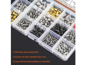 450 Pieces Computer Standoffs Spacer Screws Assortment Kit for Hard Drive Computer Case Motherboard Fan Power Graphics