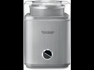Pure Indulgence 2-Quart Automatic Frozen Yogurt, Sorbet, and Ice Cream Maker - Silver