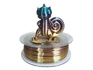 3D Printer Silk Rainbow Multicolor PLA Filamentt 1.75mm 1KG Multi Color Printing Materials Gradually Changing Color PLA Rainbow Mulitcolor Multicolored Metallic Color Gradient Filament
