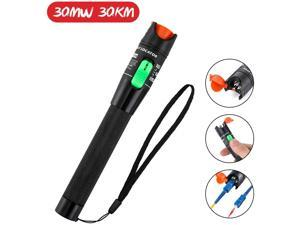 30mW 30KM Visual Fault Locator, Fiber Optic Cable Tester Meter, Red Light Cable Test Equipment for 2.5mm Universal Connector, FC Male to LC Female Adapter for CATV Telecommunications
