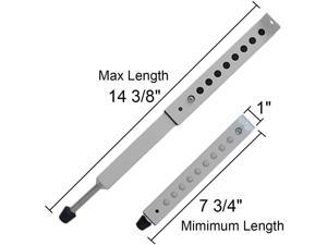 """A/C Security Window Lock Bar, Door Security Bars - Sturdy Steel, Extends from 7 3/4"""" to 14 3/8"""" for Sliding Windows with AC Unit Installed"""