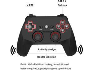 Fashionable 2.4G Wireless Controller for PS3, PC Gamepads with Vibration Range up to 10m Support PC (Windows XP/7/8/8.1/10), PS3, Android, Vista, TV Box Portable Gaming Joystick Handle