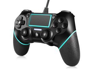 PS4 Controller Wired Gamepad for Playstation 4/Pro/Slim/PC with Motion Motors,Mini LED Indicator and Anti-Slip Design - Berry Blue