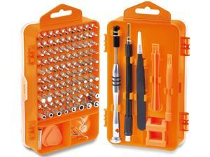 110 in 1 Precision Screwdriver Set with Phillips, More& Torx Bits, Non-Slip Magnetic Electronics Tool Kit