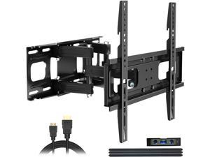 Full Motion TV Wall Mount with Height Setting, TV Bracket Fits Most 27-65 Inch LED Flat&Curved TVs,Articulating Swivel Tilt Dual Arms Extension Max VESA 400x400mm and Holds up to 121 LBS