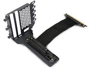 Universal Vertical GPU Bracket with 220mm Flat Line Pci-E X16 Riser Cable Kit