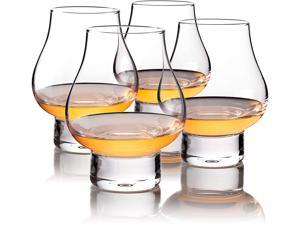 Scotch Snifter Glass - Whiskey Glasses Set of 4 - Cognac Snifter Glasses - Beautiful Cocktail Glassware for Home Bar - Old Fashioned Glass - Bourbon Scotch Whiskey Crystal Glasses