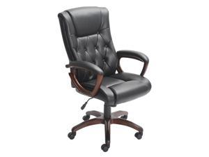 Bonded Leather Manager's Chair, Black