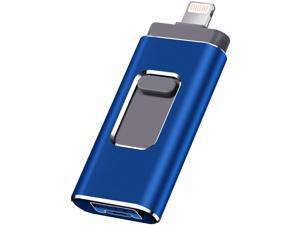 USB Flash Drive for iPhone Photo Stick 1TB Memory Stick USB 3.0 Flash Drive Memory Stick for Phone and Computers (1TB Blue)