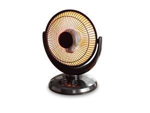 14'' Oscillation Dish Heater, Black Finish