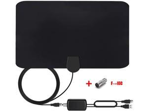 Amplified Indoor HD Digital TV Antenna with Signal Amplifier 120-150 Miles, Support 4K 1080p Local Live Channels Broadcast Work with All Types Home Smart TV
