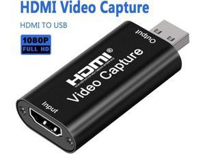 HDMI Video Capture, Audio Video Capture Cards HDMI to USB 2.0, Full HD 1080p Record , Live Streaming, Live Broadcasting Capture