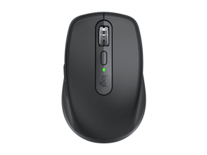 Logitech MX Anywhere 3 Wireless Bluetooth Mouse with Magspeed Scrolling 4000DPI Business Compact Performance Mouse with USB-C Quick Charging for Windows/macOS/iPadOS/Chrome OS/Linux,Graphite