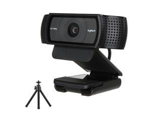 Logitech C920 HD Pro Webcam with Tripod ,USB 2.0 certified(USB 3.0 Ready ) With Dual Built-in Mics Stereo for Computer Laptop Macbook