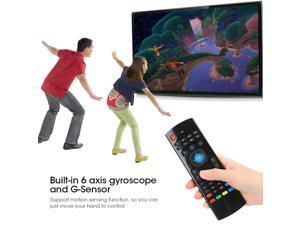 2.4Ghz Wireless Fly Air Mouse Keyboard Remote Control G-Sensor For Android TV PC