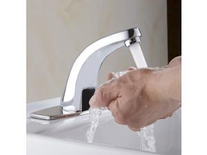 Hands Free Infrared Water Basin Faucet Auto Sink Mixers Sensor Tap w/ Remote Box