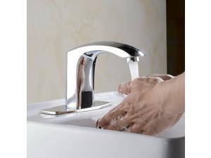 Sensor Motion Touchless Faucet Hands Free Bathroom Vessel Automatic Sink Tap NEW