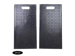 2x Rubber Curb Ramp 60x30x19cm Truck Parking Lot Skid Resistance Loading Dock Portable Rubber Curb Ramps for Car Motorbike Wheelchair Threshold Ramp 60 × 30 × 19cm