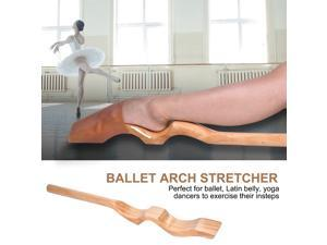 Wooden Ballet Dance Foot Stretch Stretcher Arch Enhancer with Elastic Band