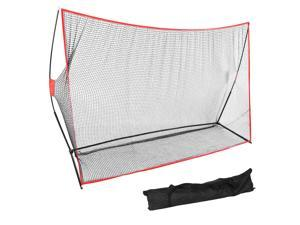 10 x 7FT Portable  Practice Net Hitting Driving Training Aids w/ Carry Bag 10ft Golf Practice Net Kit Portable Swing Training Mesh Ball Hitting Cage Indoor Outdoor Sports