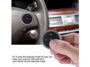 MP3 Wireless Bluetooth Media Remote Control Button Car Steering Wheel Bike Mount