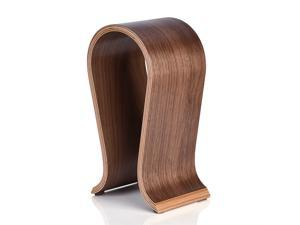 U Shape Wood Headphones Stand Holder Hanger Wooden Headset Desk Display Shelf Rack