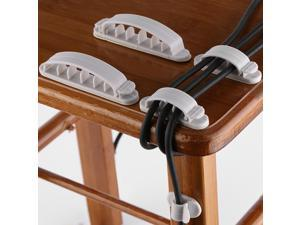 10Pcs Desktop Cable Holder Clip Line Organizer Tool Cord Management Hooks for Office Home