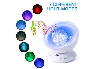 FBA Monopolys LED Ocean Projector Light With Remote Control White ((The remote control is shipped without batteries)