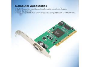 Graphics Card VGA PCI 8MB 32bit Desktop Computer Accessories Multiple Display