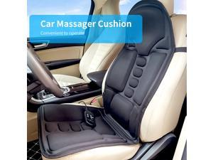 Heated Electric Car Neck Lumbar Full Body Massage Massager Seat Cushion Pad US Plug