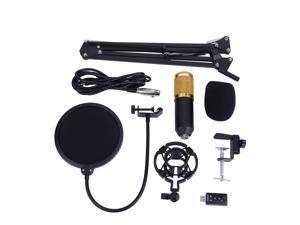 BM800 Studio Condenser Microphone Arm Stand Pop Filter Foam Cap Kit Record Accessory