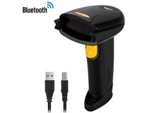 2.4G Wireless Bluetooth 4.0 USB Laser Barcode Scanner Reader for IOS Android