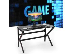 120cm Ergonomic Gaming Table Computer Desk with RGB LED Light Furniture Boy Gift for Home Use