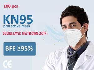 100pcs N95 Mask Face Mask Filter - Anti-Fog FFP2 Dust Mask PM2.5 KN95 Masks - Air Filter Dust Proof Healthy Protective Respirator