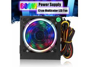 XINTUOWANG 600W Power Supply 12cm Multicolor LED rgb Fan 24 Pin PCI SATA 12V Computer Power Supply Desktop Gaming Power supply