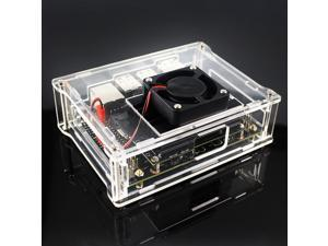 Acrylic Case Box with Cooling Fan for NVIDIA Jetson Nano Developer Module Kit Shell Enclosure Cooler Case with Fan