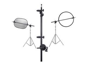 """Selens 110cm 43"""" 5-in-1 Multi Photo Reflector Kit with Arm Support Light Stand Sandbag Photography"""