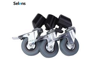 Selens 3pcs Heavy Duty Universal Caster Wheels For Light Stand Photography Studio Boom
