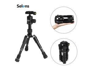 Selens Mini Aluminum Portable Tripod with Ball Head For Video DSLR Vlog Cameras
